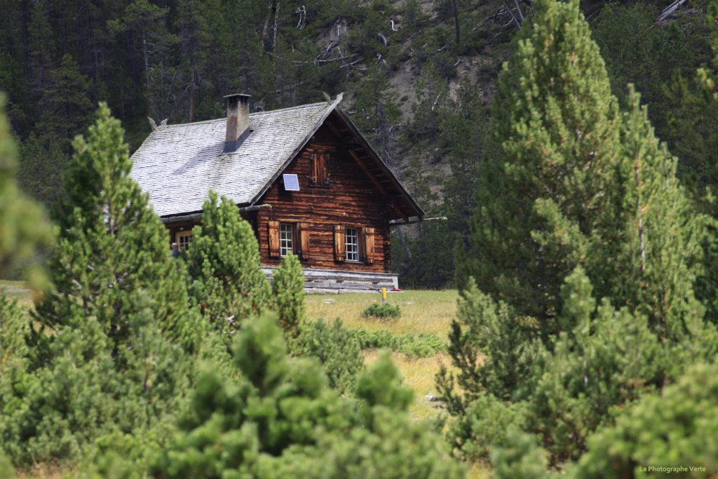 photo de paysage: chalet d'alpage dans le Parc National Suisse